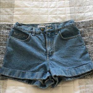 EUC American Apparel high rise shorts size 25